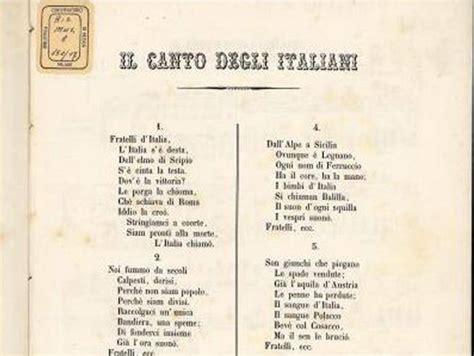 inno napoli testo inno di mameli testo completo canto degli italiani