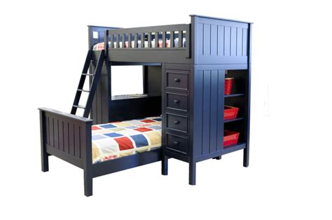 campground collection loft bed  navy blue kids