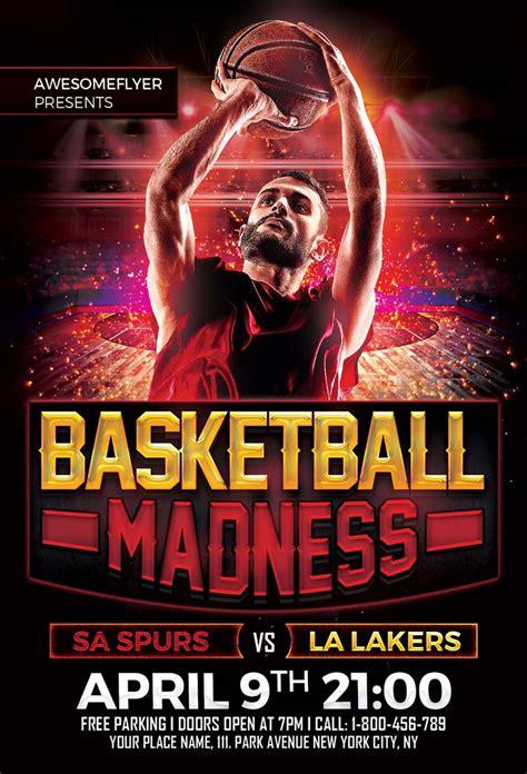 basketball madness flyer template awesomeflyercom