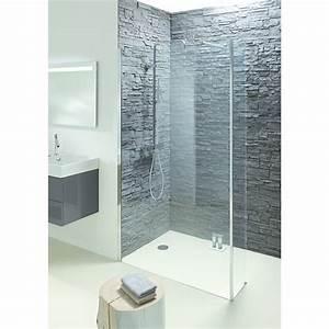 Paroi de douche avec ou sans porte pivotante ou for Paroi douche italienne avec porte
