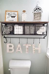 Full bathroom makeover with floors and paint sw sea salt for Wall plaques for bathroom
