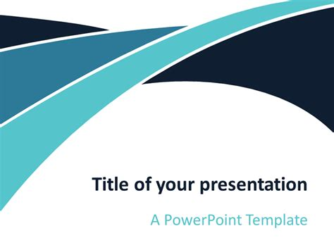 wave template blue wave powerpoint template presentationgo