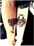 lock and key   couples matching tattoos   egodesigns  Lock And Key Matching Tattoo Designs