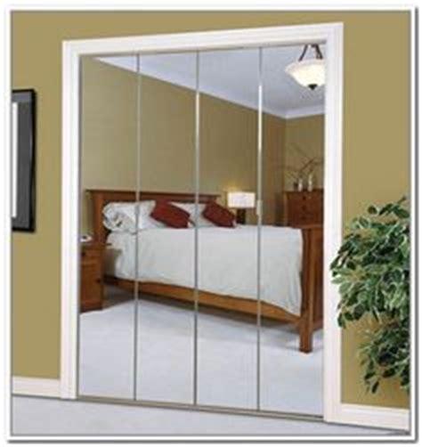 Beveled Mirror Closet Doors by Slimfold 24 Quot X 80 Quot Frameless Steel Bifold Mirror Door With