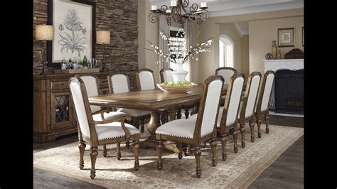 reddington wood trestle dining room set  pulaski
