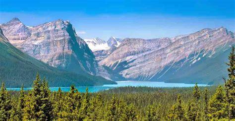 canada mountains alberta rocky landschap landscape paysage kanada rocheuses lac mountain ranges wildnis landschaft banff met beau nationalpark national park