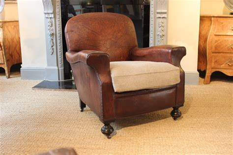 Very Comfortable Pair Of 1920s English Leather Armchairs