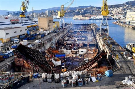 Cruise Ship Sinking 2017 by Costa Concordia Wreckage Torn Apart For Scrap 5 Years