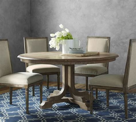 pottery barn table ls linden fixed pedestal table pottery barn