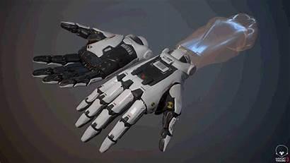 Hand Robot Weapon Concept Artstation Arm Deformation
