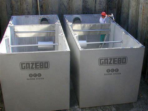 Vasche Cemento by Vasche Prefabbricate In Cemento Armato C A Gazebo