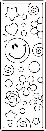 Coloring Bookmarks Crochet Pages Printable Grammie Google Clipart sketch template