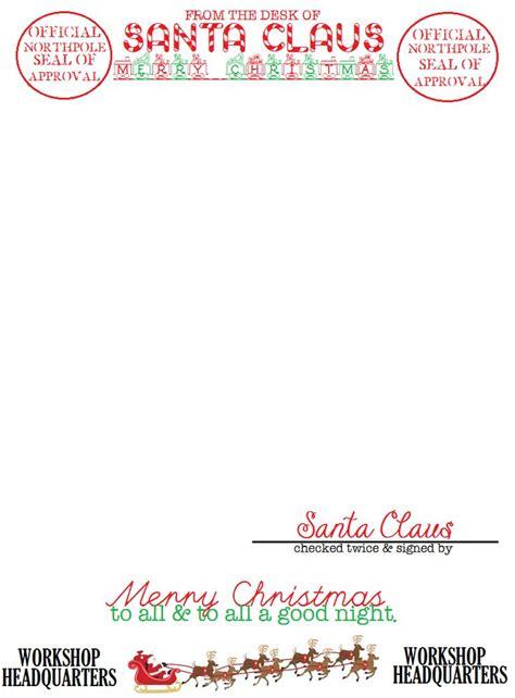 santa letterhead cretated  jenny hollis   crafts