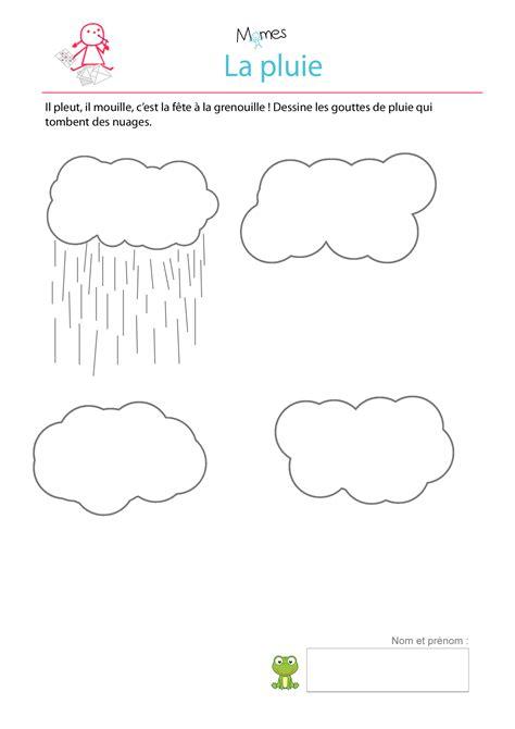 chambre metier dessine la pluie exercice à imprimer momes