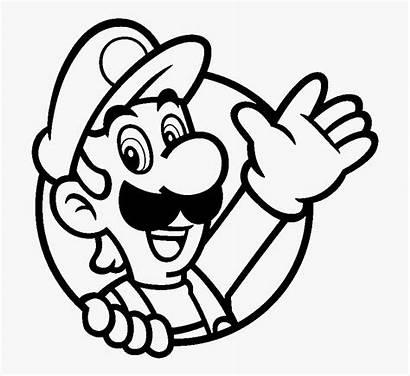 Coloring Mario Luigi Icon Cartoon Towel Silhouettes
