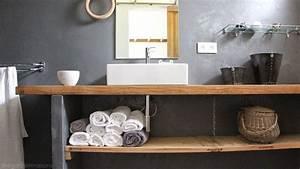 quel plan de travail choisir pour la salle de bains With plan de travail bois salle de bain