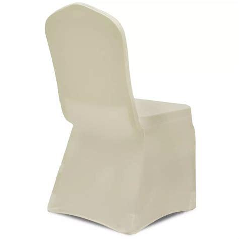 housse extensible pour chaise acheter housse crème extensible pour chaise 6 pièces pas