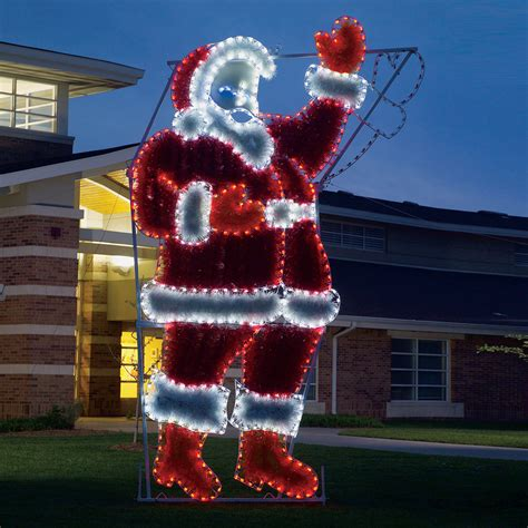 lowes lighted christmas decorations shop holiday lighting specialists 17 ft animated waving