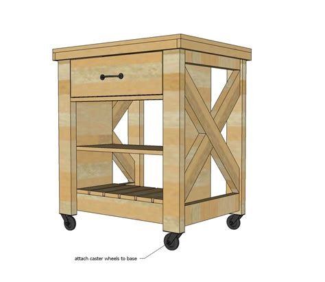 kitchen island on wheels plans white rustic x small rolling kitchen island diy 8201