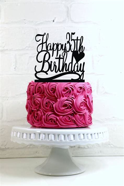 Happy Th  Ee  Birthday Ee   Cake Topper Or Sign   Ee  Birthday Ee