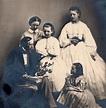 Hans Christian Andersen and family, Denmark, 1863 ...