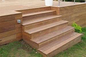 Escalier Terrasse Bois : terrasse en bois piscine ~ Nature-et-papiers.com Idées de Décoration
