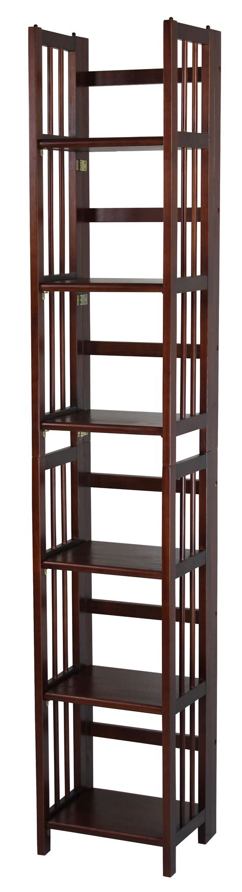 14 Inch Bookcase by Casual Home 3 Shelf Folding Stackable