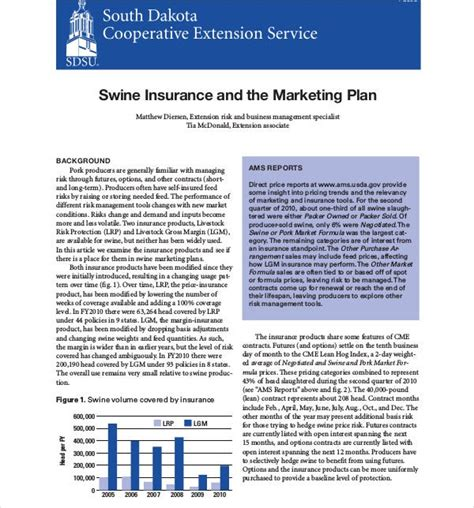 insurance marketing plan templates  docs