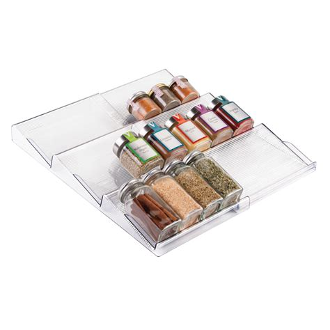Expandable Spice Rack by Mdesign Adjustable Expandable Spice Rack Drawer Organizer