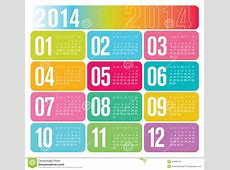 2014 Yearly Calendar Royalty Free Stock Photo Image