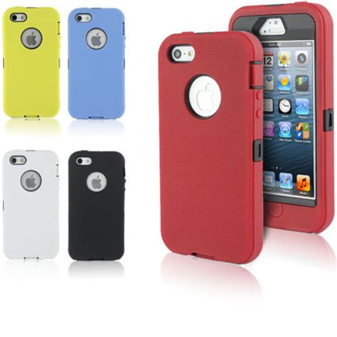 rugged iphone 5s iphone 5 5s rugged defender tough shockproof cover