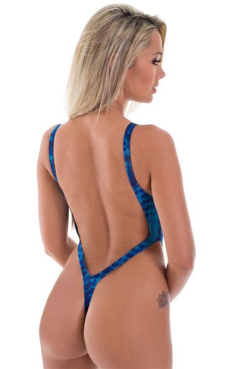 piece thong bikini  super thinskinz royal serpent