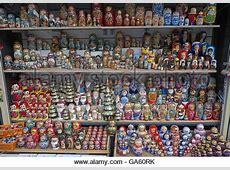 Russische Puppen und Souvenirs St Petersburg Russland