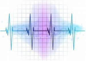 Light Blue Heart Beat Diagram