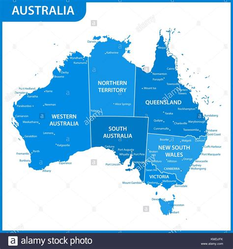 Australia Map States And Cities Gallery Diagram Writing