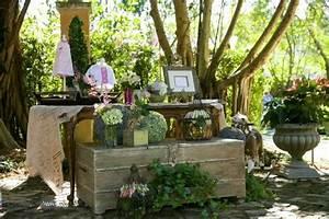 Wanddeko Für Garten : 40 beispiele f r shabby chic garten mit vintage flair ~ Watch28wear.com Haus und Dekorationen