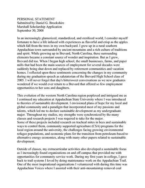 college personal statement examples college student