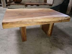 Table Bois Massif Brut : mercier carrelages table basse bois de suar massif ~ Teatrodelosmanantiales.com Idées de Décoration
