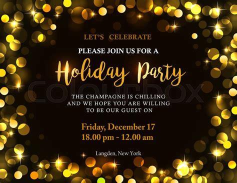 holiday party invitation   stock vector
