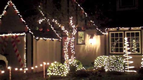 christmas tree lane thompson ave alameda ca youtube