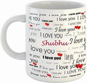 Emerald, Love, You, White, Ceramic, I, Love, You, Shubhu, Ceramic, Coffee, Mug, Price, In, India