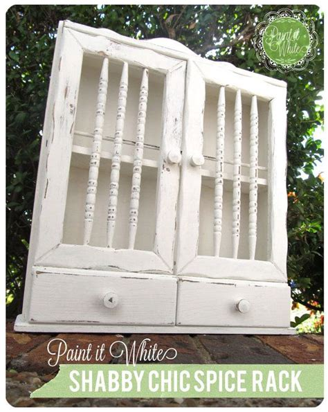 Shabby Chic Spice Rack by Hanging Distressed Shabby Chic Spice Rack By