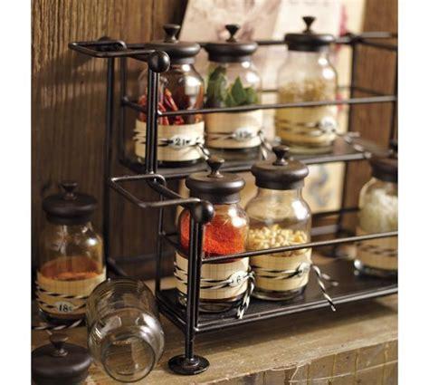 Kitchen Counter Spice Rack by Counter Spice Rack Jars Pottery Barn Spice Rack