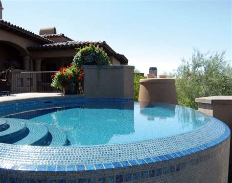 pool tile options glass porcelain