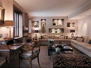 luxurious furnitures design in safari themed living room With safari decorations for living room