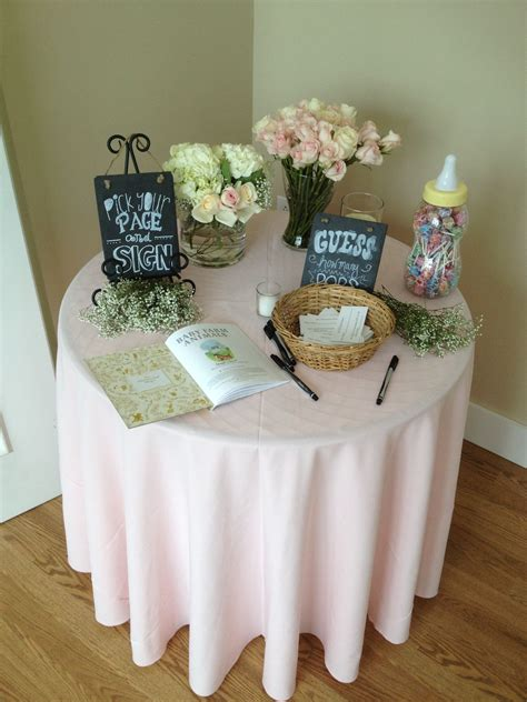 table for baby shower entrance table at a baby shower our events