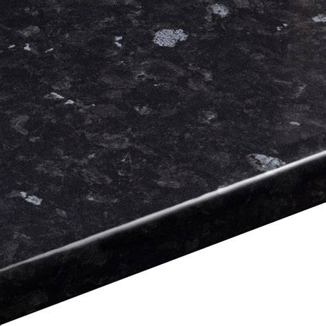 mm ebony granite laminate black gloss stone effect