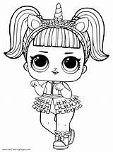 Coloring Lol Unicorn Doll Pages Getcoloringpages sketch template