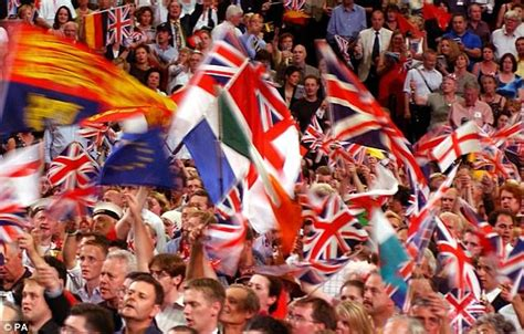 audience members  proms banned  waving eu flags
