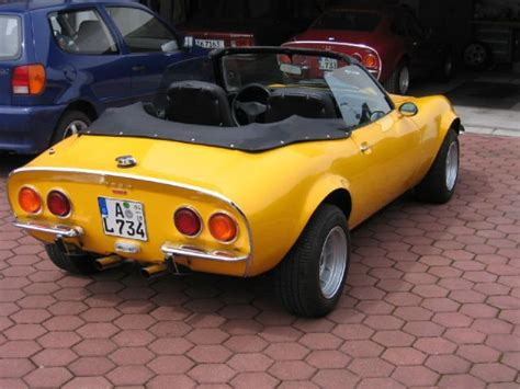 1972 Opel Gt Lemon Yellow Convertible